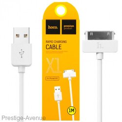 Кабель HOCO Fast Charning Cable X1 2.4A for iPHONE 4/4s (1 Метр)