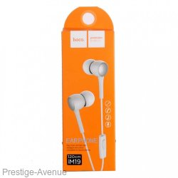 Наушники Hoco M19 Drumbeat Universal Earphone with mic (1.2 м) с микрофоном White Белые