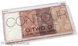 Хайлайтер O.TWO. Contour Grooming Powder 4 цвета 24g (9110)